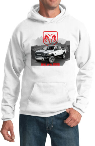Buy Cool Shirts Dodge Hoodie White Ram Hooded Sweatshirt