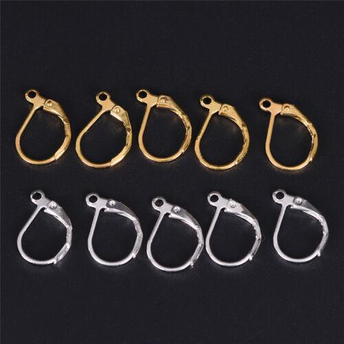 50PCS//100PCS French Earring Lobster Clasps Hooks Findings DIY Jewelry Earring TY