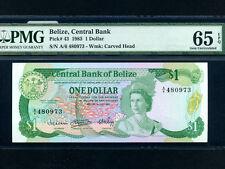 Belize(British Honduras):P-43,1$,1983 * Queen Elizabeth * PMG UNC 65 EPQ *