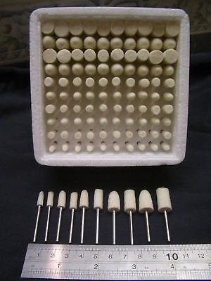 100 pieces RUBBER polishing rotary point burrs bob polishers polish tools