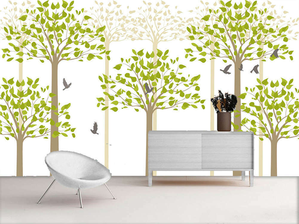 Three Pulpy Trees 3D Full Wall Mural Photo Wallpaper Printing Home Kids Decor