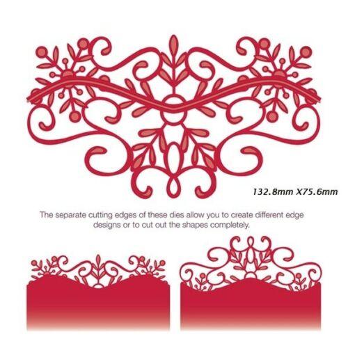 Lace Edge Borders Corner Metal Cutting Dies Series Retro Flower DIY Scrapbook