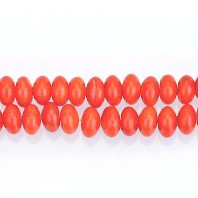 Pcs Art Hobby DIY Jewellery Making Coral Plain Rondelle Beads 4 x 6mm Orange 95