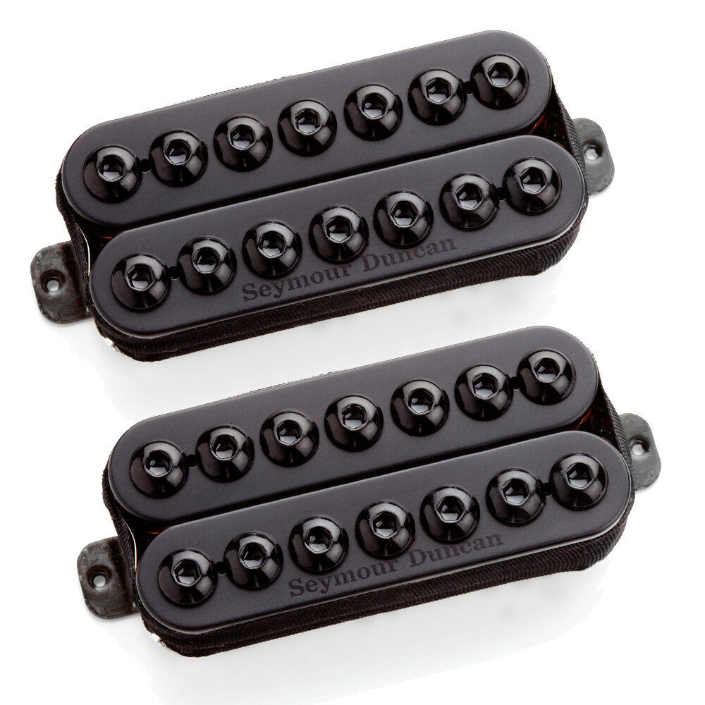 Seymour Duncan Invader 7 cuerdas con mástil & & & Puente pasivo de montaje al descubierto Set Negro  suministramos lo mejor