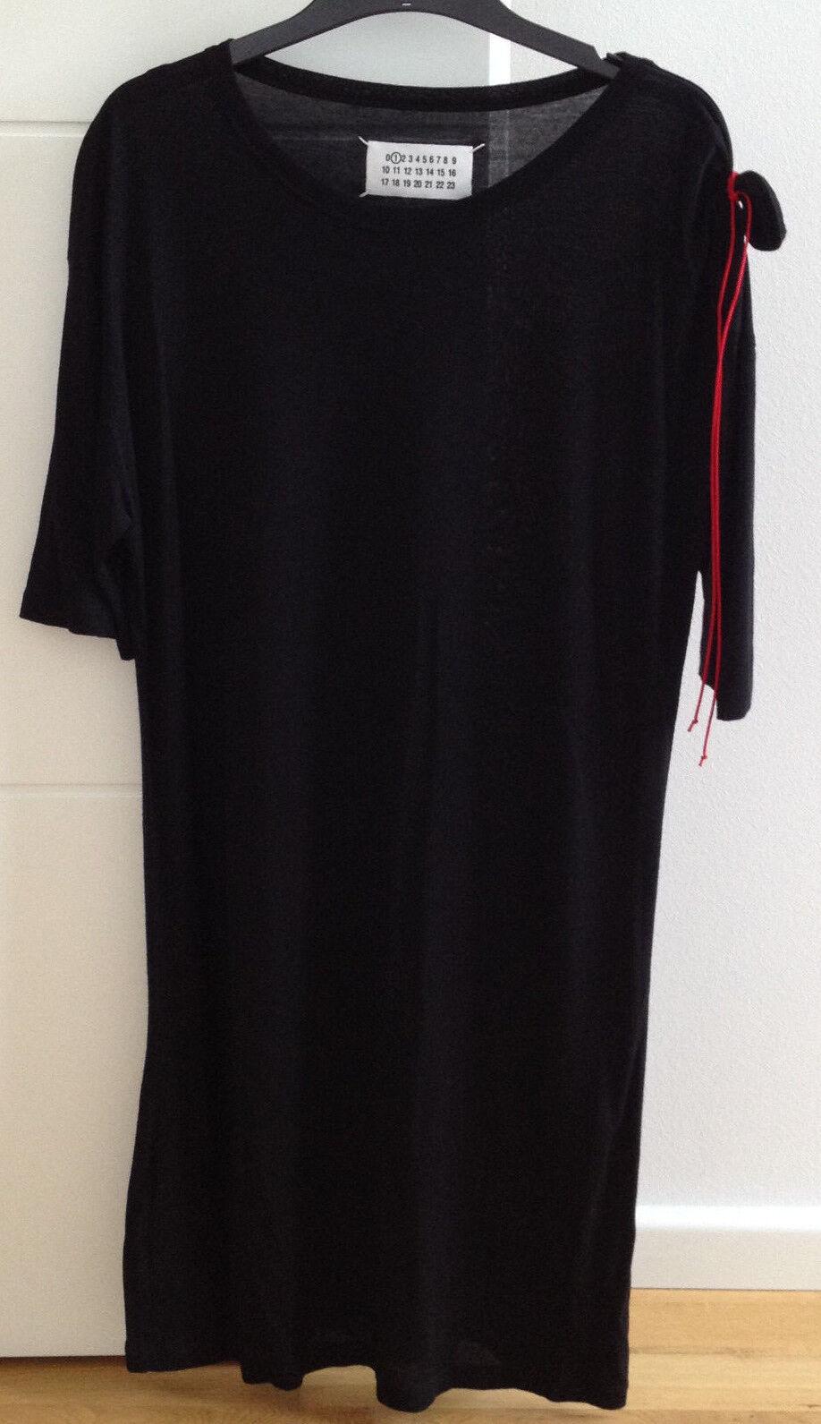 Maison Martin Margiela _ shirt schwarz Avec rot Ornement le manche _ M