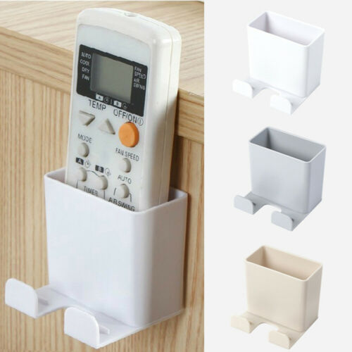 US Wall Mounted Storage Case Control For Mobile Phone Plug Remote Holder Stand