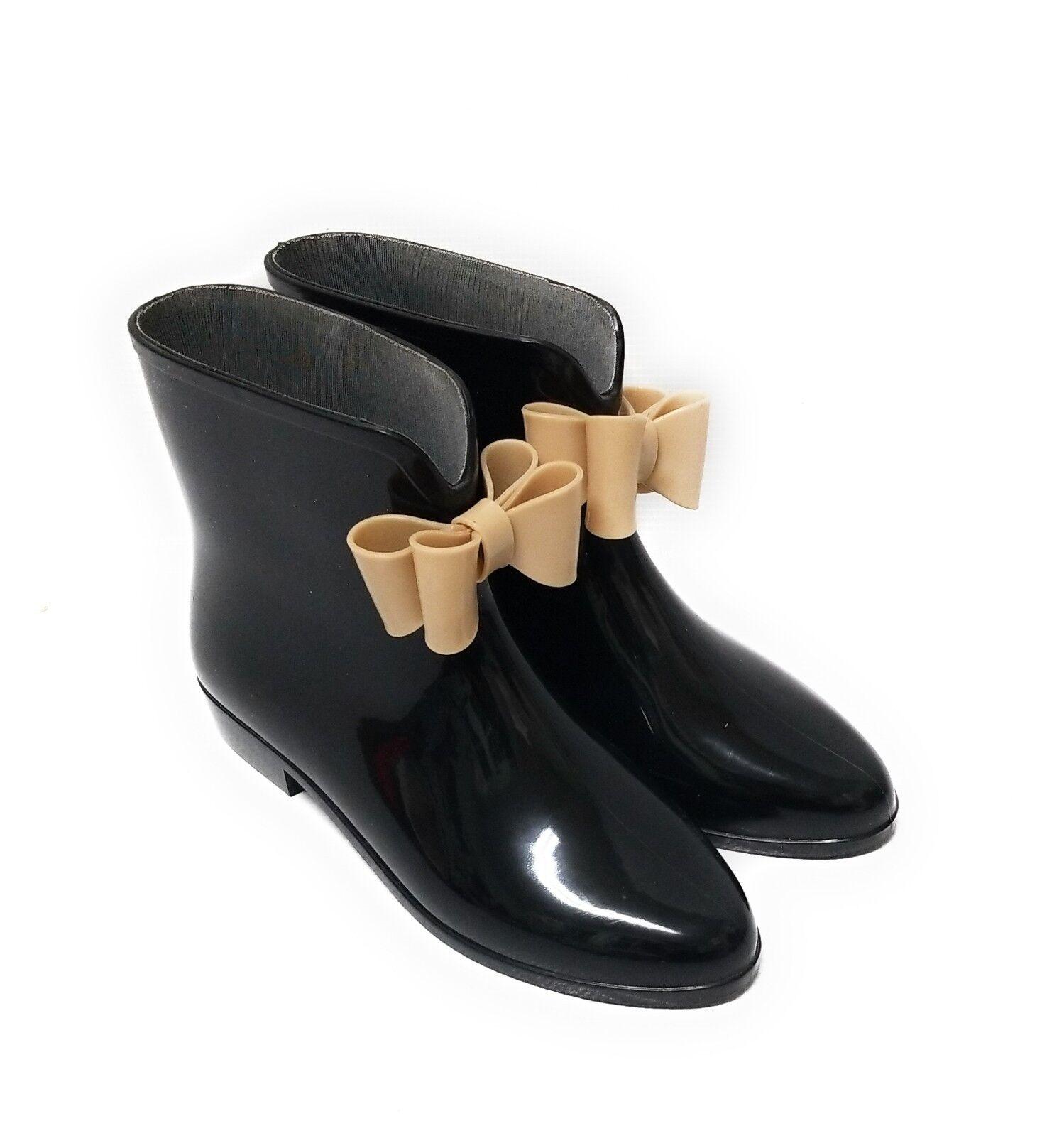 Dizzy para mujeres botas De Lluvia De De De Goma Negra con Arcos Talla 7  venta con descuento