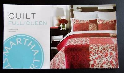Martha Stewart Paisley Blocks Reversible Full//Queen Quilt//2 Standard Shams NWT
