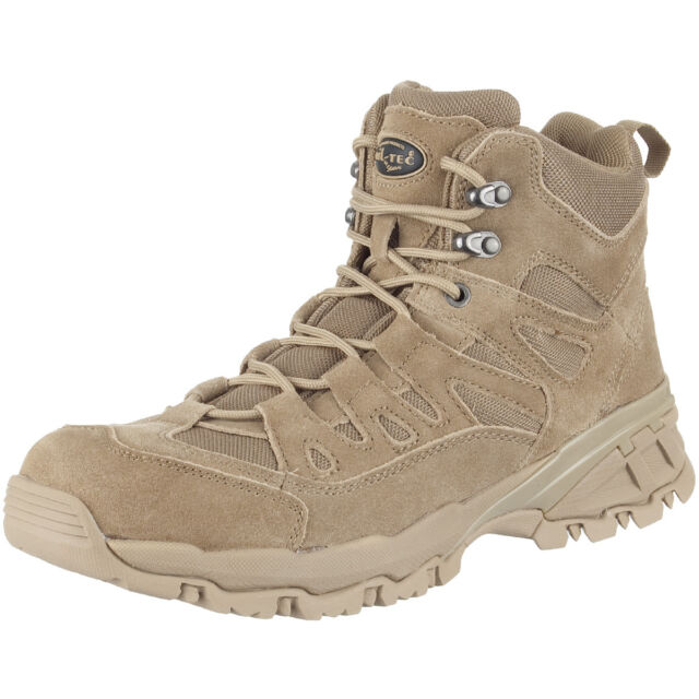 Mil-Tec Men/'s Brown Tactical Military Army Combat Cadet Hiking Side-Zip Boots
