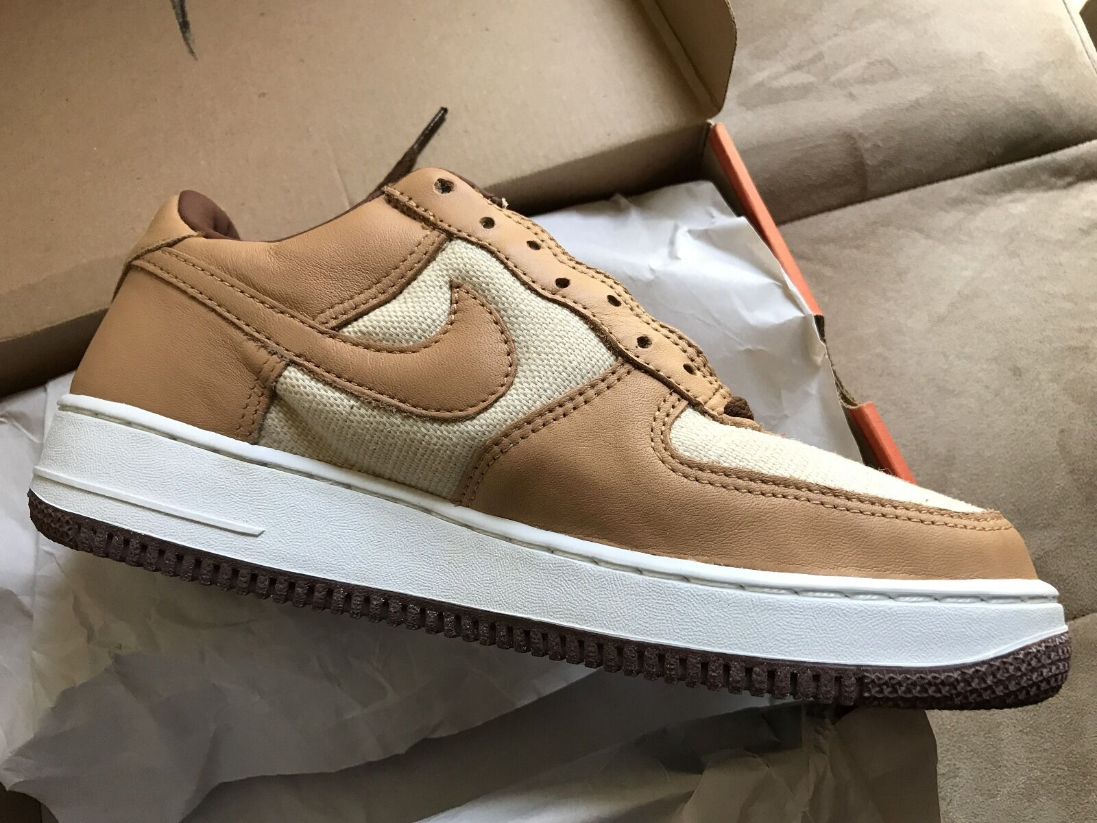 2002 - brand new nike air force 1 naturale vegetazione ghianda brown noi 8