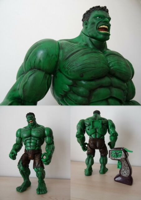 Hulk,Battle Action,MARVEL,Toy Biz 2003,+30 cm,custom paint,D. Banner,Avengers,TV