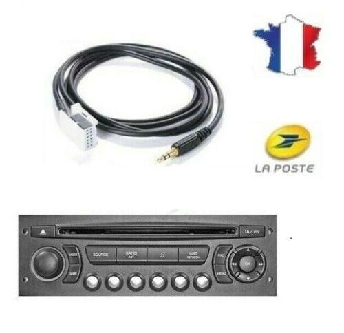 Cable auxiliaire peugeot citroen adaptateur autoradio rd4 aux rd4 GZ® PRO