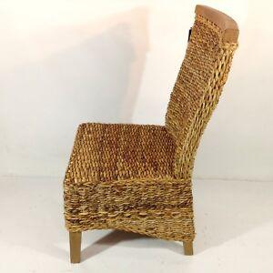 Geflecht stuhl teak landhausstil vintage esszimmer for Dekoration wohnzimmer ebay