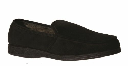 NEW MENS GROSBY MICHAEL COMFORTABLE SLIPPERS MOCCASINS SHOES BLACK BROWN