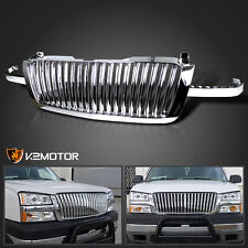 2003-2005 Chevy Silverado 1500/2500/3500 Chrome Vertical Front Hood Grille