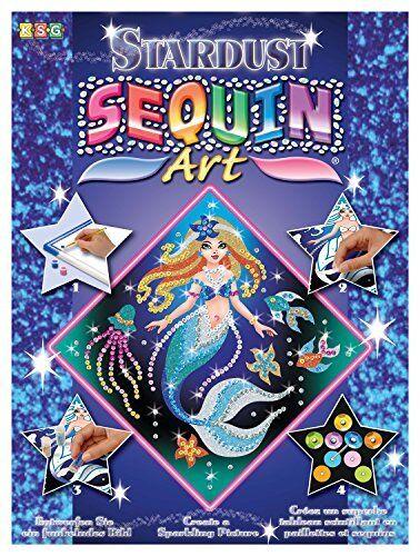 KSG Arts and Crafts Sequin Art et stardust Craft Kit Mermaid