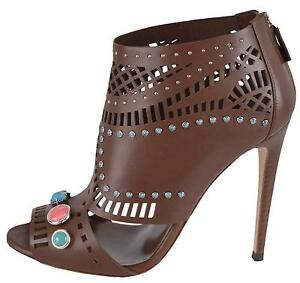 NEW-Gucci-Women-039-s-1-195-Laser-Cut-Leather-Jeweled-Lifford-Ankle-Booties-Shoes