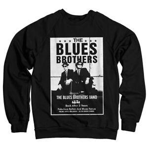 Ufficialmente Poster The con xxl S Felpa Blues licenza Nero Brothers Taglie HwnApSHr