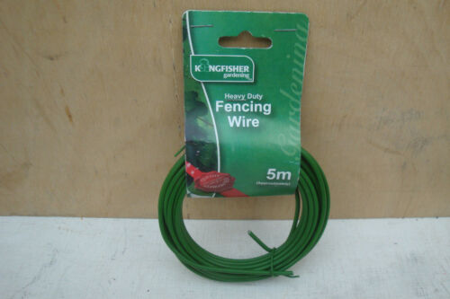 KINGFISHER PLASTIC COATED FENCING /& GARDEN WIRE 5M X 3MM GSW101