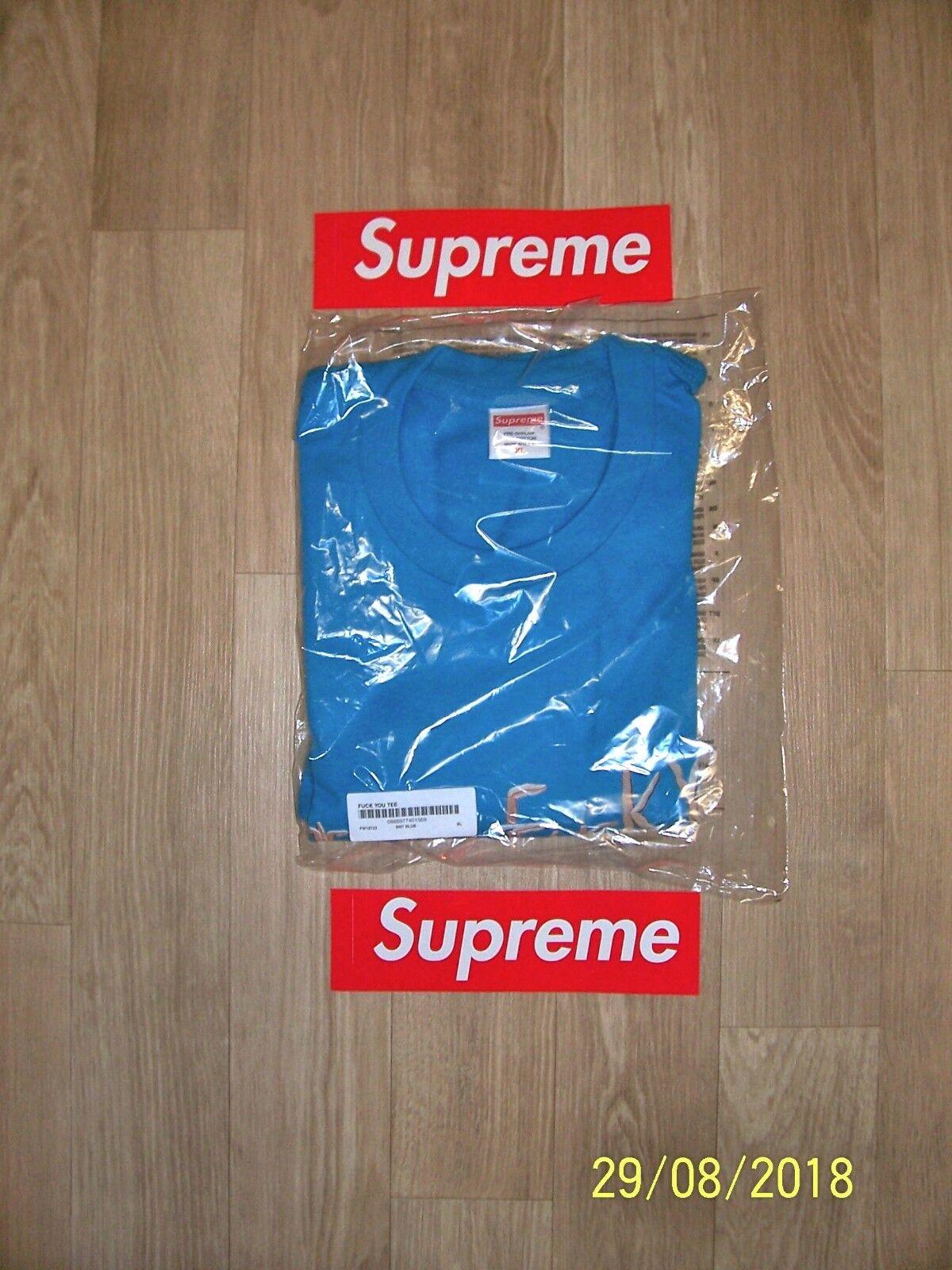 Supreme  Fuk You  Tee Bright bluee XL FW18
