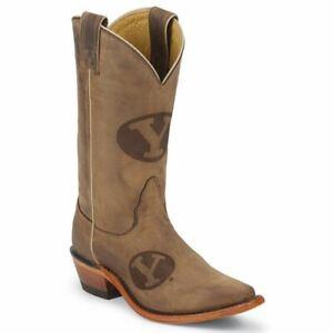 Nocona-LDBYU11-Women-039-s-Brigham-Young-University-Tan-Cowhide-Branded-College-Boot