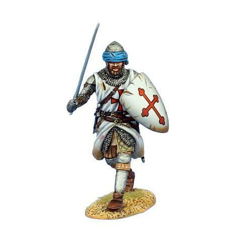 CRU089 - Templar Knight Advancing with Sword - Crusades - First Legion