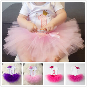 My Little Girl Baby 1st Birthday Dress Outfits Infant Party Clothing ... 499a174d53