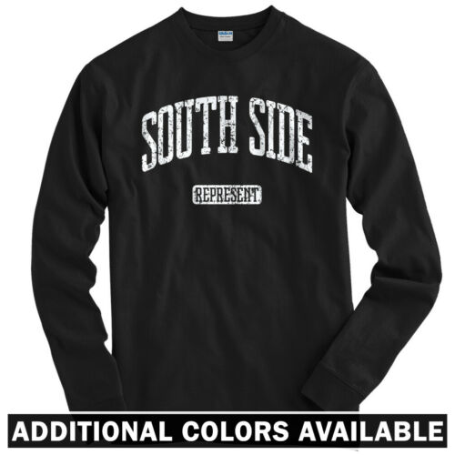 South Side Represent Long Sleeve T-shirt LS Philly LA NYC Chicago  Men Youth