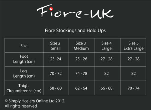 Fiore Glam Sheer Hold Ups 20 Denier Elegant Plain Elasticated Tops