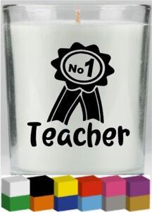 No 1 Teacher Vinyl Candle  Glass Decal  Sticker Graphic - Bilston, United Kingdom - No 1 Teacher Vinyl Candle  Glass Decal  Sticker Graphic - Bilston, United Kingdom