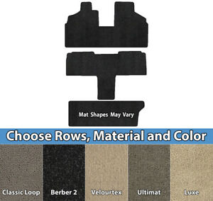 Ford VelourTex 4 Piece Carpet Custom Fit Floor Mats 2 Rows Lloyd Color Choices