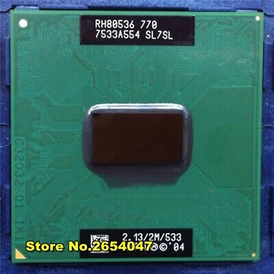 Intel Pentium  M770 CPU Socket 479   2.4 GHz//35 W//Single-Core laptop processor