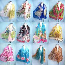*US Seller* lot of 10 boho vintage retro chiffon wrap shawl Wholesale Scarves