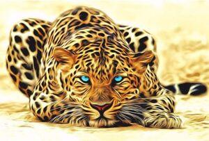 Peinture-par-Numeros-DIY-Peinture-Acrylique-Image-Art-Kit-Leopard