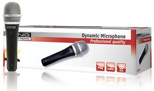 Microfono con Cavo 6.35 mm -72 dB Nero konig KN-MIC50 - Italia - Microfono con Cavo 6.35 mm -72 dB Nero konig KN-MIC50 - Italia