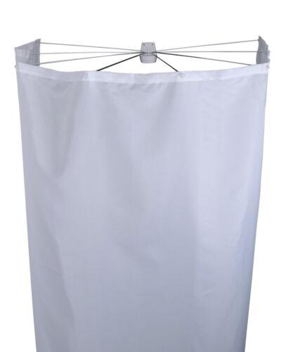 Dusch Faltkabine Duschkabine Duschvorhang Ridder Ombrella 210 x 180 cm PES weiß