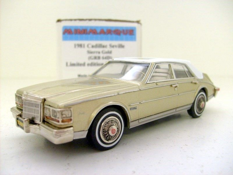 Minimarque 1 43 grb64d 1981 Cadillac Seville-Gold