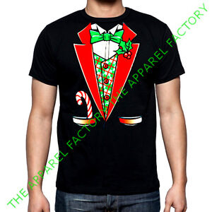 Christmas Sweater Suit.Details About New Christmas Tuxedo Costume T Shirt Outfit Funny Santa Ugly Sweater Suit Tee