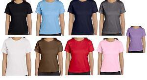 Ladies-Blank-Shirt-Small-through-3X-Many-Colors-Women-T-Shirt-Pure-Cotton