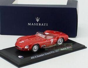 1-43-LEO-MODELS-MASERATI-450-S-Sweden-Graud-Prix-1957-7-Behra-Diecast
