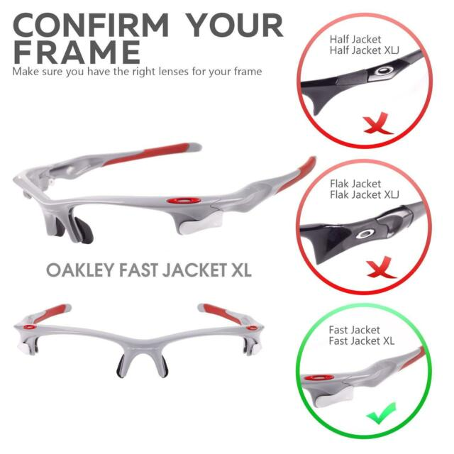 c481dc0b40 Walleva Clear Replacement Lenses for Oakley Fast Jacket XL Sunglasses for  sale online