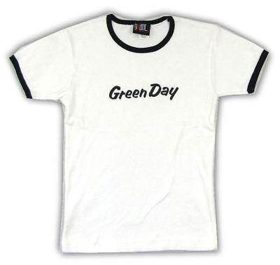 "GREEN DAY /""NIMROD/"" GIRLS JUNIORS WHITE T SHIRT NEW OFFICIAL BAND ALBUM JUNIORS"