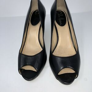 Cole Haan Womens Black Peep Toe Pumps Sz.6B