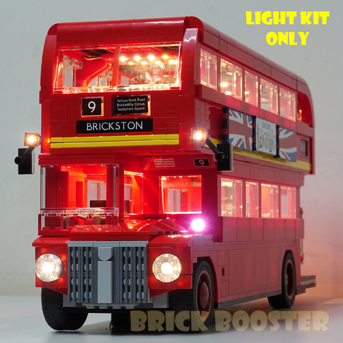 USB   Battery Powered LED Light Kit for Lego 10258 London Bus
