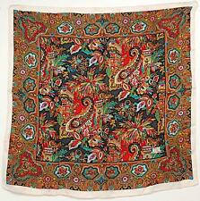"""LIBERTY OF LONDON VINTAGE Collectible Silk Floral/Paisley Square Scarf 23"""" Sq"""