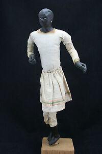 antique-18th-C-black-latex-rubber-wax-Doll-Figure-Suriname-45cm-17-7inch