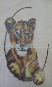 Paragon-Wildlife-Series-Lion-Cub-Crewel-Embroidery-Kit-Susan-Goldsmith-Vintage