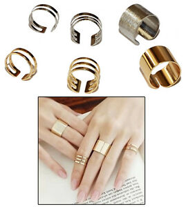 3-Set-of-Stack-Midi-Finger-Tip-Rings-in-Silver-or-Gold-Colour-Adjustable