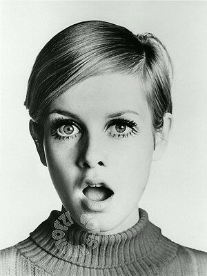 "Twiggy 1960s Fashion Icon Model Vintage Wall Silk Poster 20×20/"" 24×24/"" 32×32/"""