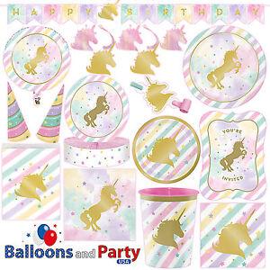 Unicorn Sparkle Pony Girls Birthday Party Tableware Decorations